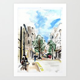 Bond street scene Art Print