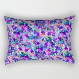 Floral Splash Cool Rectangular Pillow