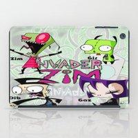 invader zim iPad Cases featuring Invader Zim best decoration ideas by customgift