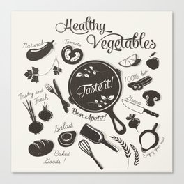 Health Vegetables Canvas Print