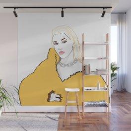 CHRISTINA AGUILERA LIBERATION Yellow Fur Jacket Wall Mural