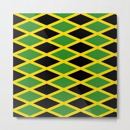 Flag of Jamaica 3-Jamaican,Bob Marley,Reggae,rastafari,cannabis,ganja,america,south america,ragga Metal Print