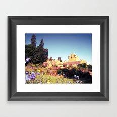 castle flowers. Framed Art Print
