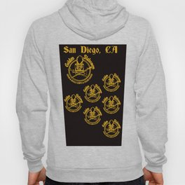 Golden Statesmen Drum and Bugle Corps on Black Background Hoody