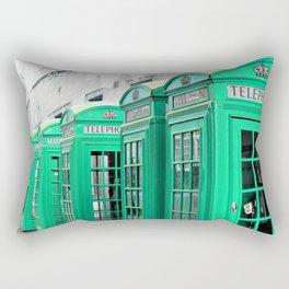 Reed Booths Turned Seafoam Rectangular Pillow