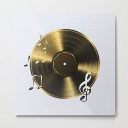 Gold LP Vinyl Record Metal Print