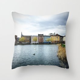 Cloudy, But Friday Throw Pillow