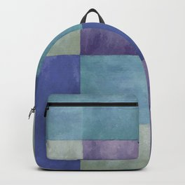Blue Grey Tone Tiles Backpack