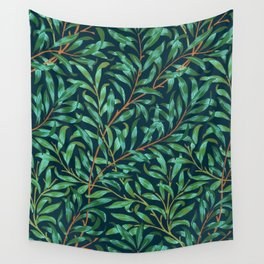 Midnight leaves Wall Tapestry