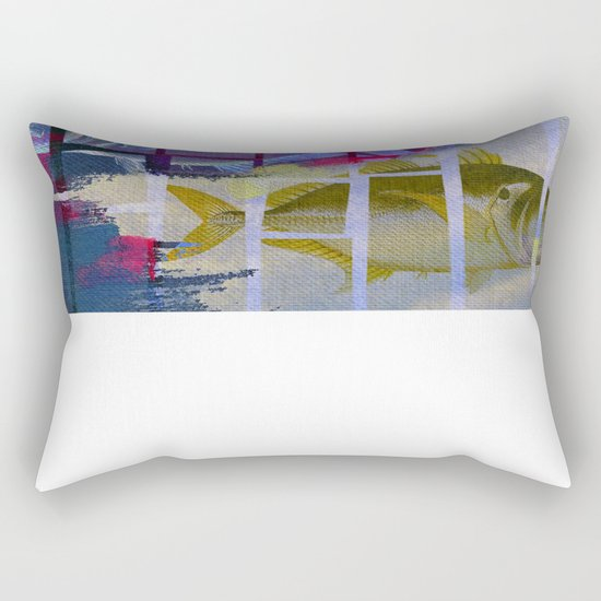 Fish Under Strong Radiation 3 Rectangular Pillow