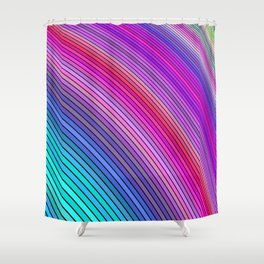 Cold rainbow stripes Shower Curtain