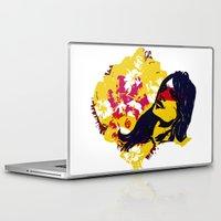 david olenick Laptop & iPad Skins featuring David by kigen