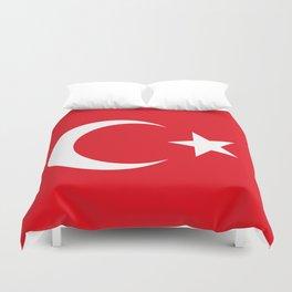 Flag of Turkey Duvet Cover