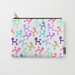 Modern whimsical neon color cute fashion poodle Carry-All Pouch