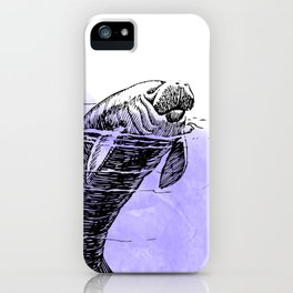 Purple Manatee iPhone Case
