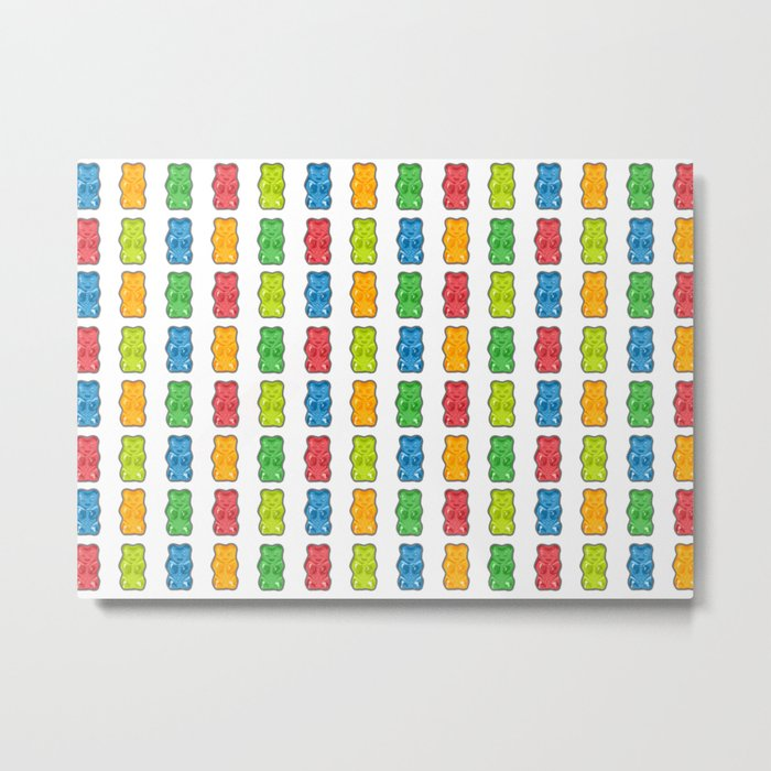 Rainbow Gummy Bears Metal Print
