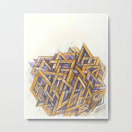 GRIDLOCKED Metal Print