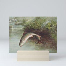 Leaping Brook Trout Mini Art Print