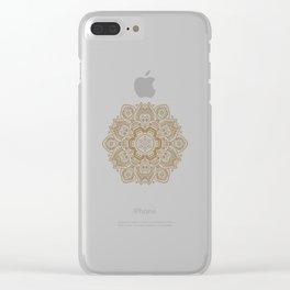 Mandala Temptation in Cream Clear iPhone Case