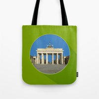 berlin Tote Bags featuring Berlin by Matthias Hennig