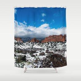 Garden of the Gods in Snow Shower Curtain