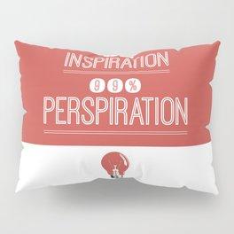 Lab No. 4 - Thomas Alva Edison Quote typography print Inspirational Quotes Poster Pillow Sham