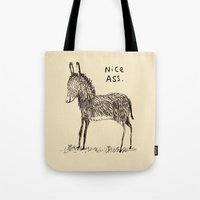 ass Tote Bags featuring Nice Ass by Sophie Corrigan
