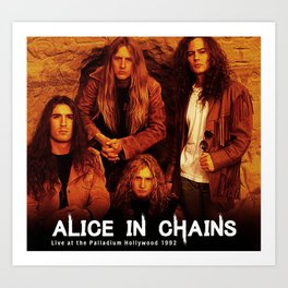 alice in chains personel tour 2020 2021 ngapril Art Print