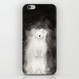 Ghostly Stoat iPhone Skin