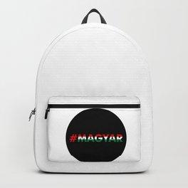 Hashtag Magyar, circle, black Backpack