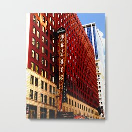 Downtown Chicago - Cadillac Palace Theatre facade  Metal Print