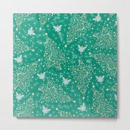 The Nutcracker Christmas Special - Sugarplum Fairy with Christmas tree pattern Metal Print