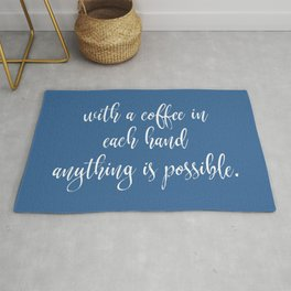 Funny Coffee Sayings Rug