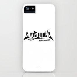 Rock graphic art - heavy metal band logo art #black iPhone Case