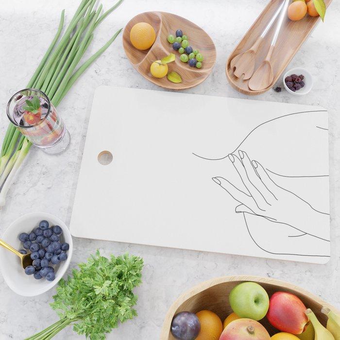 Female body line drawing - Danna Cutting Board