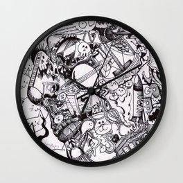 Manic Doodle Wall Clock
