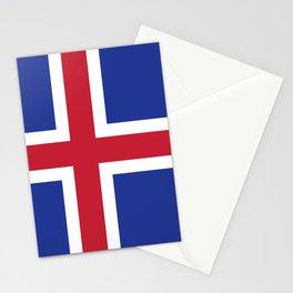 Iceland flag emblem Stationery Cards
