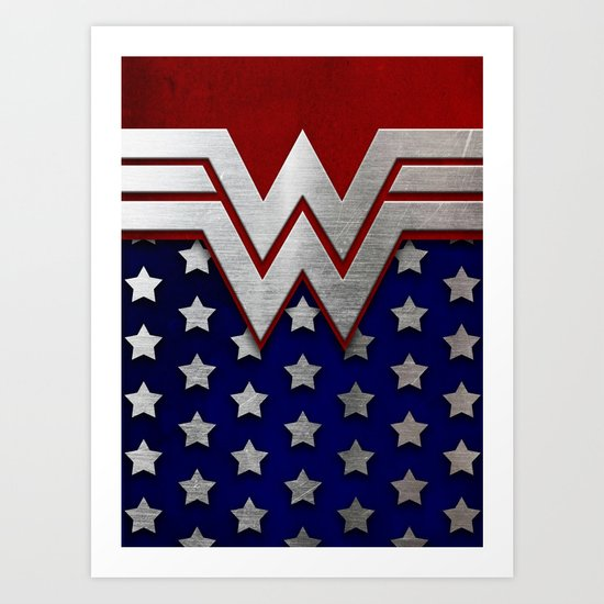 "Wonder ""New 52"" Woman Art Print"