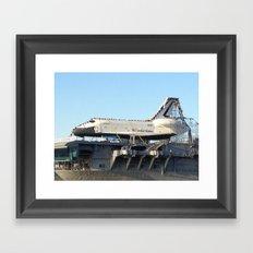 Space Shuttle Enterprise, Intrepid Aircraft Carrier, New York City Framed Art Print