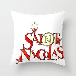 St Nicolas Throw Pillow