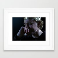 tom hiddleston Framed Art Prints featuring Prince Hal - Tom Hiddleston by Kate Dunn
