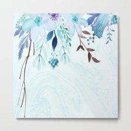 Wall of B.Flowers Metal Print
