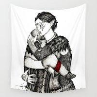 best friends Wall Tapestries featuring Best friends by Anca Chelaru