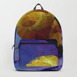Geometric Snail On Flower Backpack