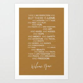 Family Manifesto (Orange) Art Print