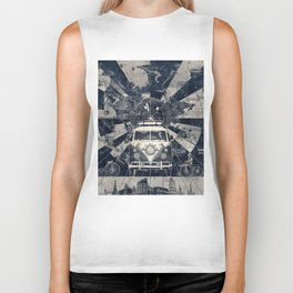 vintage voyager world map Biker Tank