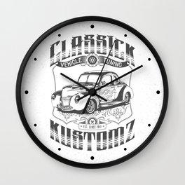 Hot Rod - Classick Kustomz (black) Wall Clock