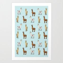 Llama-Rama! Art Print