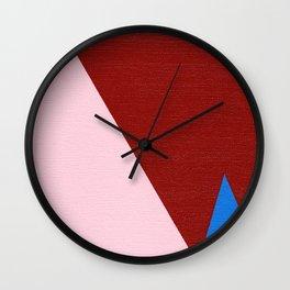 Blue Triangle Wall Clock