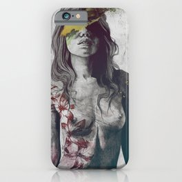 To The Marrow: Autumn (nude faceless girl in topless with lilies) iPhone Case